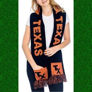 🏈 UNISEX Texas Football hoodie SCARF w/ pockets